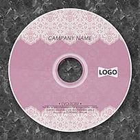 粉色蕾丝花边光盘设计