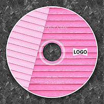 粉色木质横纹可爱潮流光盘设计