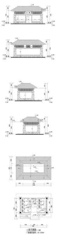 公共厕所建筑图纸