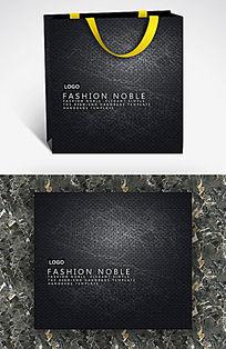 黑色磨损金属个性手提袋模板