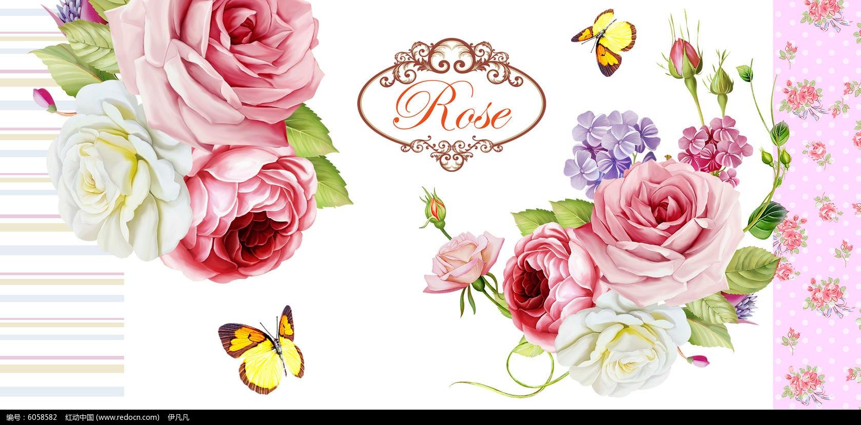 高清花卉 手绘高清花卉