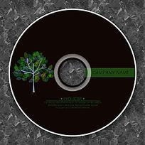 环保绿色小树苗高档CD光盘设计 PSD