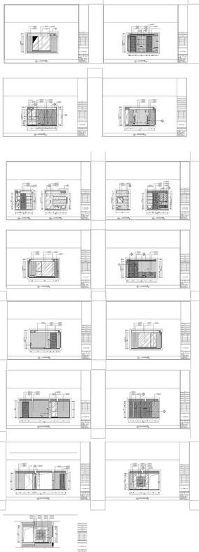 家居施工卧室立面图