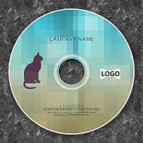 渐变格子小猫可爱CD