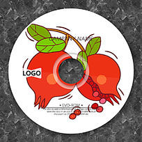 可爱卡通石榴CD模板设计
