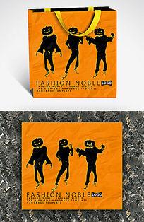 酷炫黑色南瓜人手提袋设计