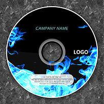 酷炫蓝色火焰CD版面设计