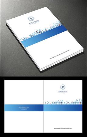 蓝色电子画册封面设计