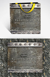 磨损感金属螺丝钉手提袋设计