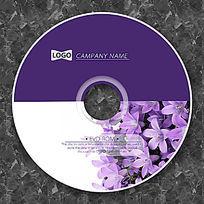 深紫色薰衣草可爱光盘设计