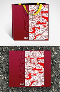 中国风祥云图案手提袋设计