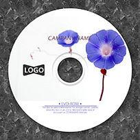 紫色太阳花可爱CD设计