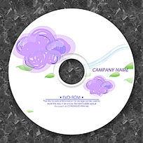紫色乌云可爱新颖光盘设计