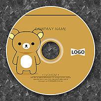 棕色小熊可爱俏皮CD