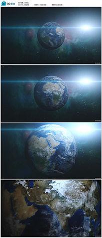 动态地球高清视频素材