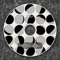 黑白不规则小球可爱俏皮CD