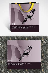 黑色小鸟剪影个性创意纸袋