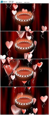 婚庆婚礼蛋糕爱心视频