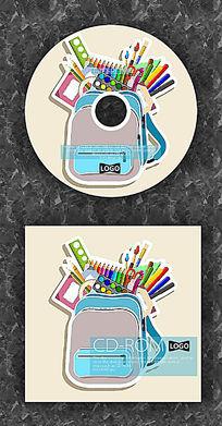 卡通背包里的绘画工具CD设计