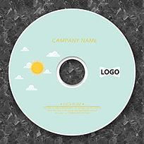 卡通太阳公公简洁可爱CD模板