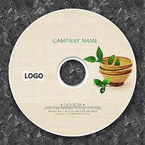 绿色叶子可爱盆栽CD设计