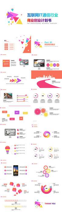 时尚大气的商业创业融资计划书PPT模板