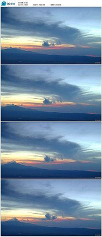夕阳西下云层翻滚实拍视频素材