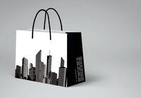 黑色城市手提袋