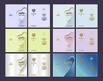 酒店简约生日卡片设计模板
