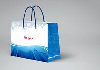 蓝色科技手提袋