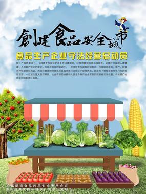 食品安全法海报设计模板