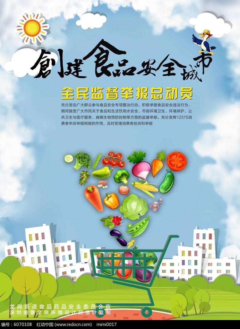 食品购物安全海报设计模板