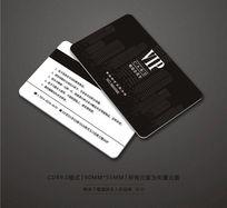 黑色房地产VIP卡设计