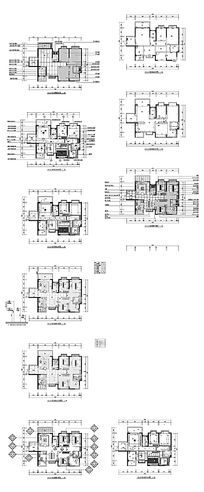 家居装饰布置平面施工图