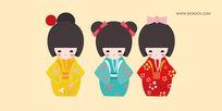 可爱日式传统娃娃 AI