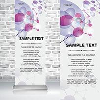 立体分子结构生物医学科技易拉宝