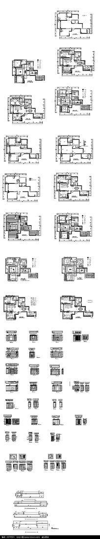 楼房户型装饰cad图