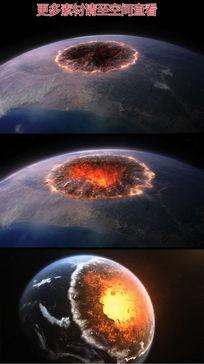 坍缩的地球末日灾难视频素材