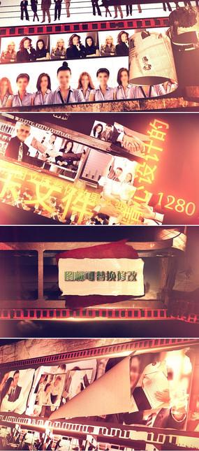 震撼大气历史事件新闻电视频道包装模板