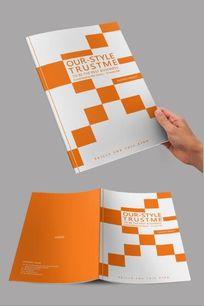 黄色方块创意企业封面设计