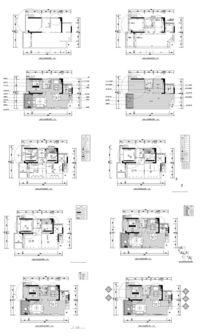 家居地面铺装平面施工图