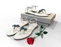 凉鞋3D模型