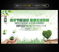 绿色环保低碳节能公益生态能源展板