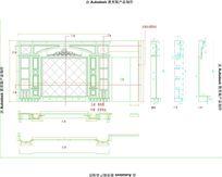 奥特曼索菲特金电视背景墙设计CAD图纸
