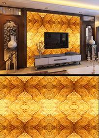 黄金图案电视背景墙