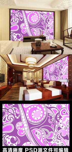 简约传统花纹图案背景墙