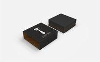 领带礼盒包装设计 PSD