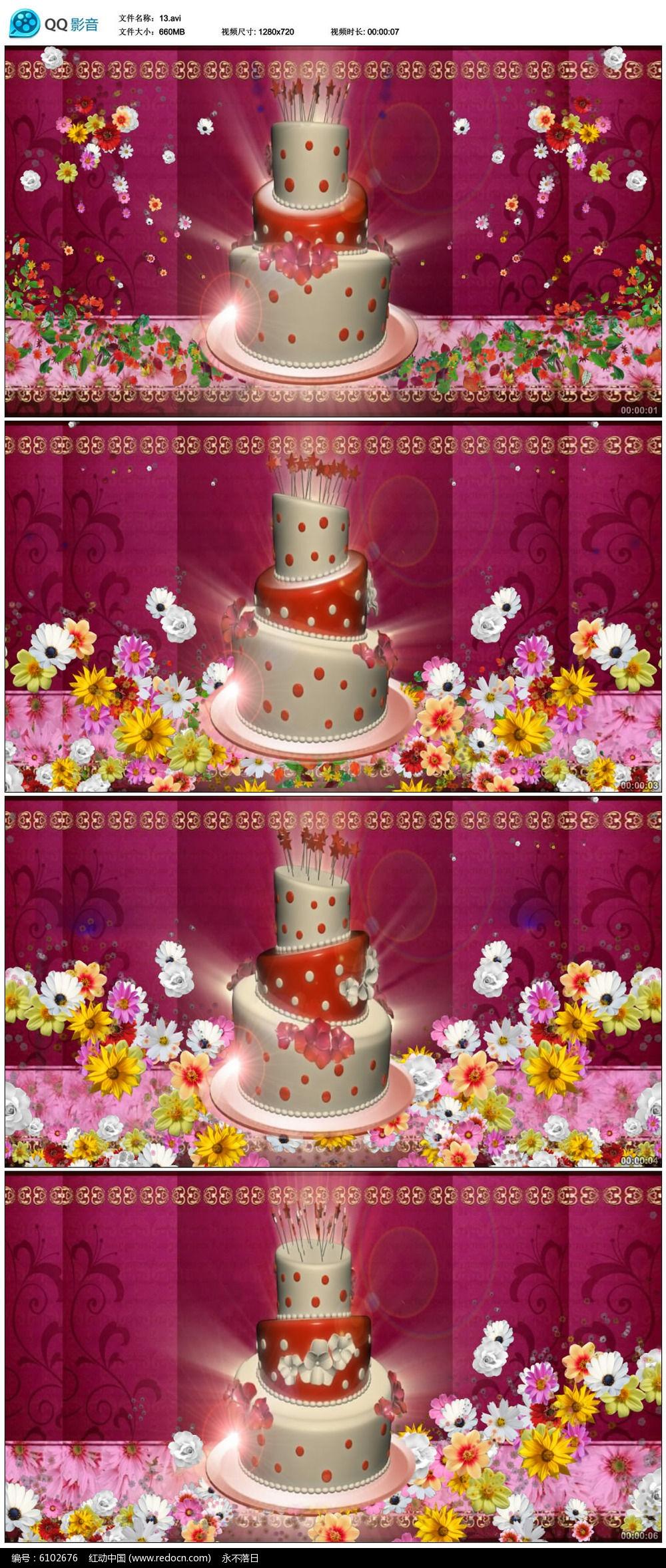 原创设计稿 视频素材/片头片尾/ae模板 led视频素材 生日蛋糕蜡烛视