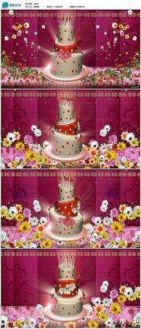生日蛋糕蜡烛视频素材