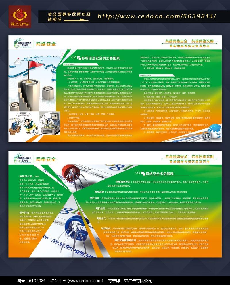 网络安全宣传板报PSD素材下载 企业文化展板设计图片